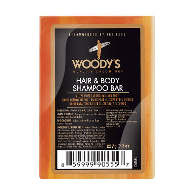 Woody's For Men Hair & Body Shampoo Bar 227g
