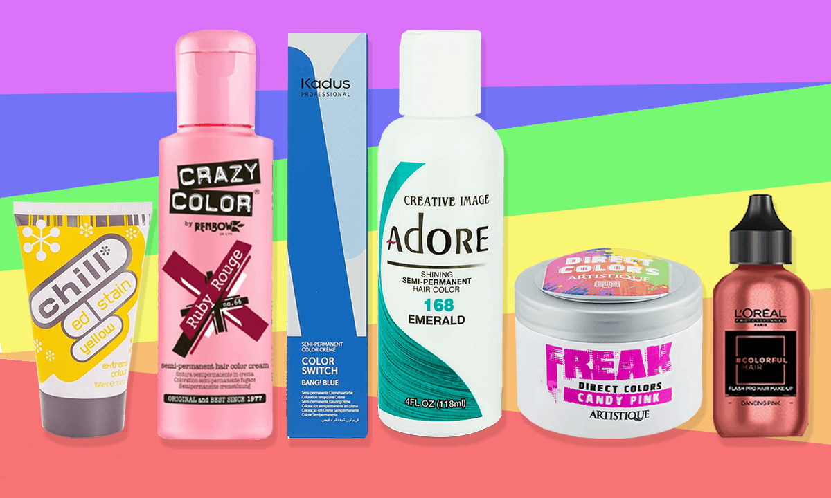 The perfect hair dyes to create the perfect pride rainbow hair