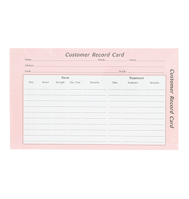 Quirepale Customer Record Card Hair