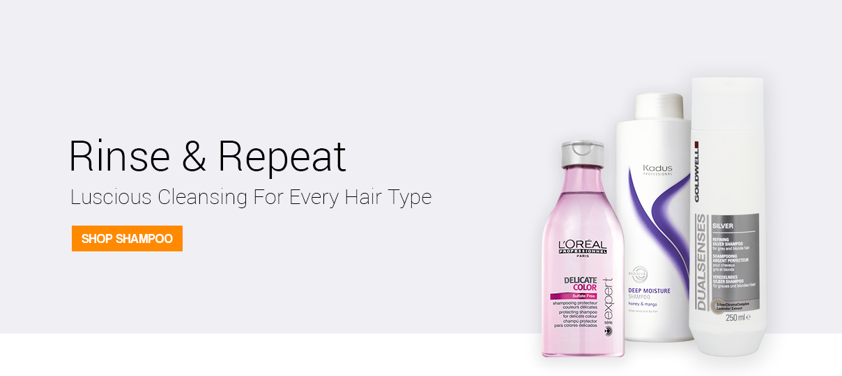 Rinse and repeat with our luscious shampoos.